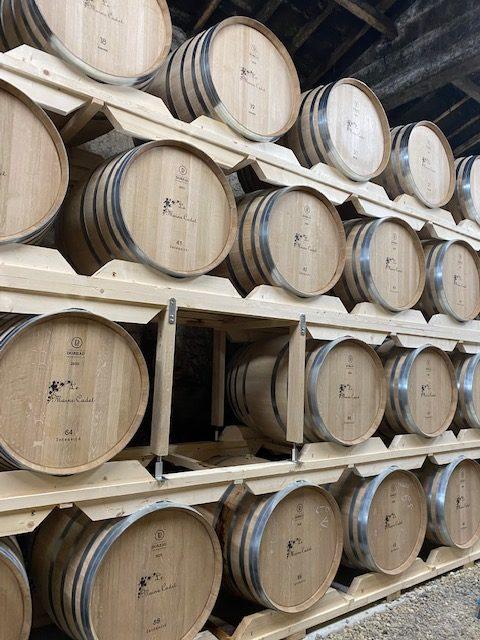 Storage of Cognac and Pineau casks